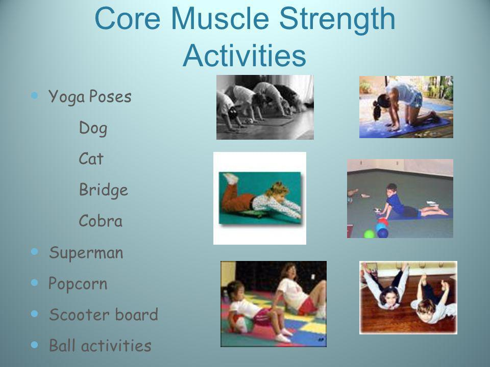 Core Muscle Strength Activities