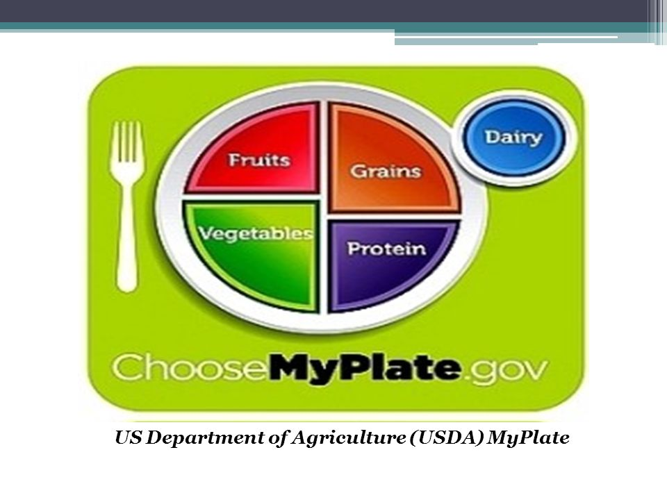US Department of Agriculture (USDA) MyPlate