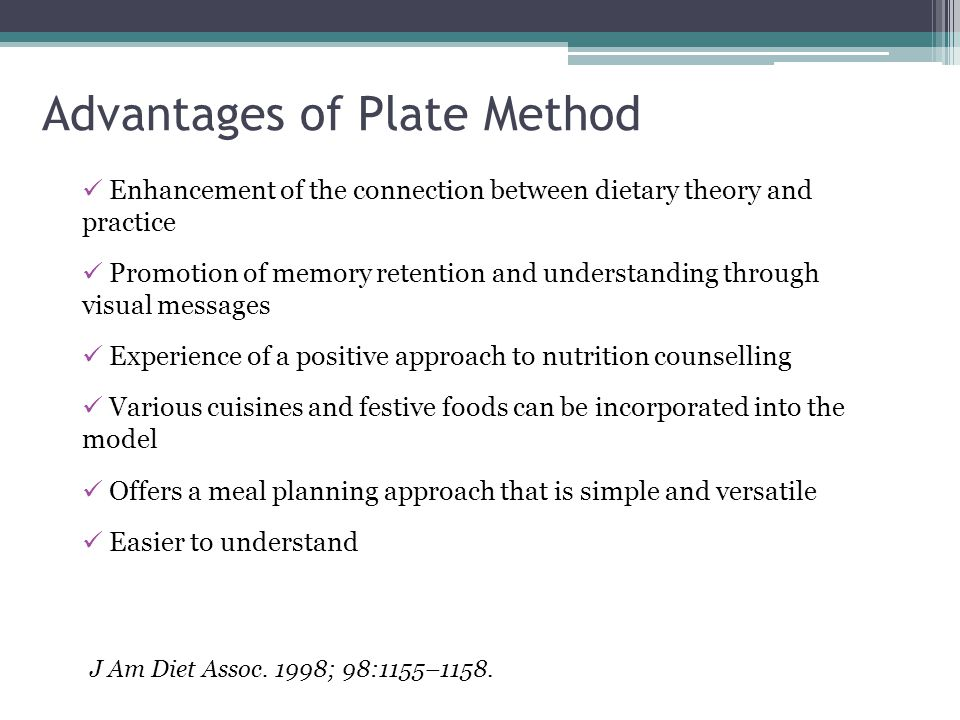 Advantages of Plate Method