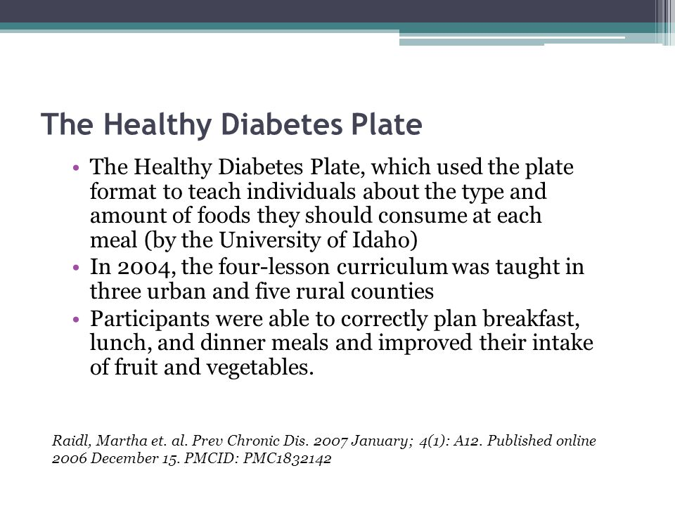 The Healthy Diabetes Plate