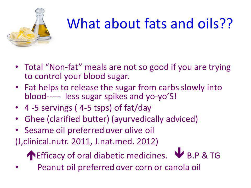What about fats and oils