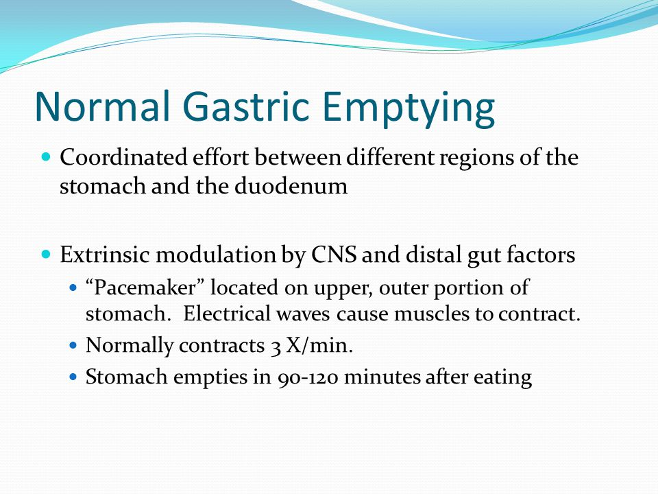 Normal Gastric Emptying