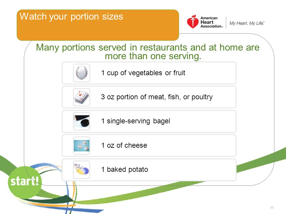 Watch your portion sizes