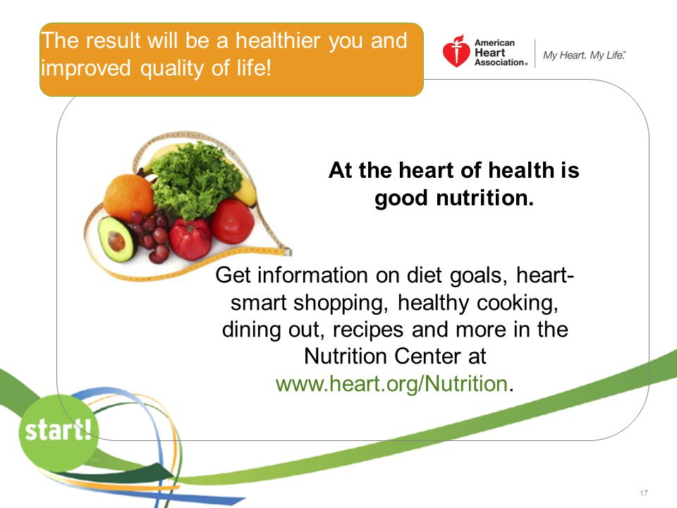 The result will be a healthier you and improved quality of life!