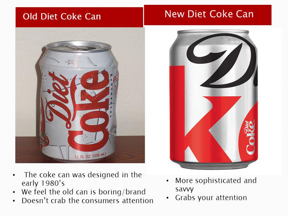 New Diet Coke Can Old Diet Coke Can