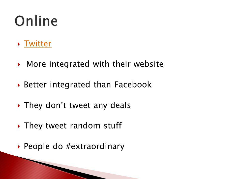 Online Twitter More integrated with their website