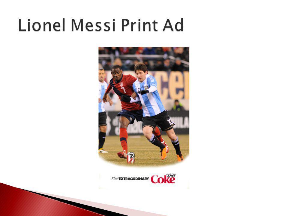 Lionel Messi Print Ad