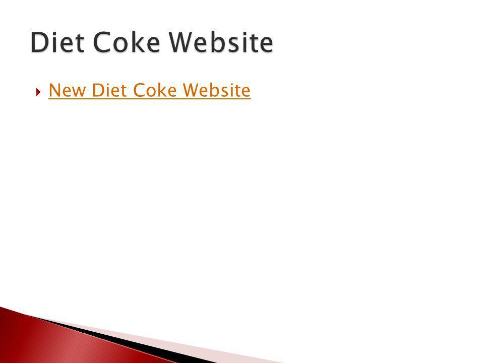 Diet Coke Website New Diet Coke Website