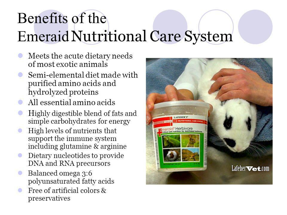 Benefits of the Emeraid Nutritional Care System