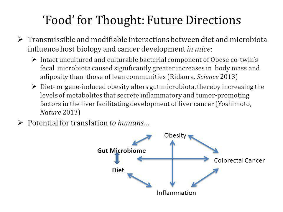 'Food' for Thought: Future Directions
