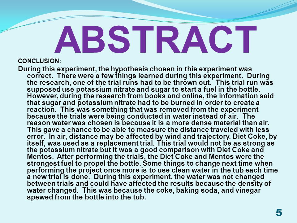 ABSTRACT Conclusion:
