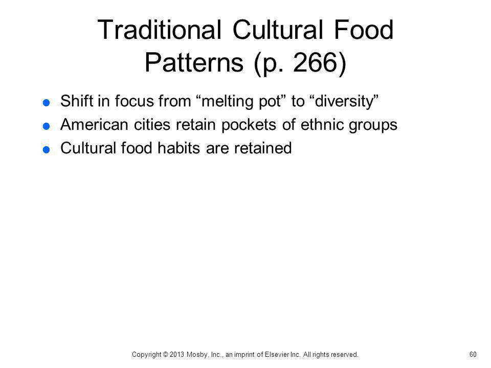 Traditional Cultural Food Patterns (p. 266)