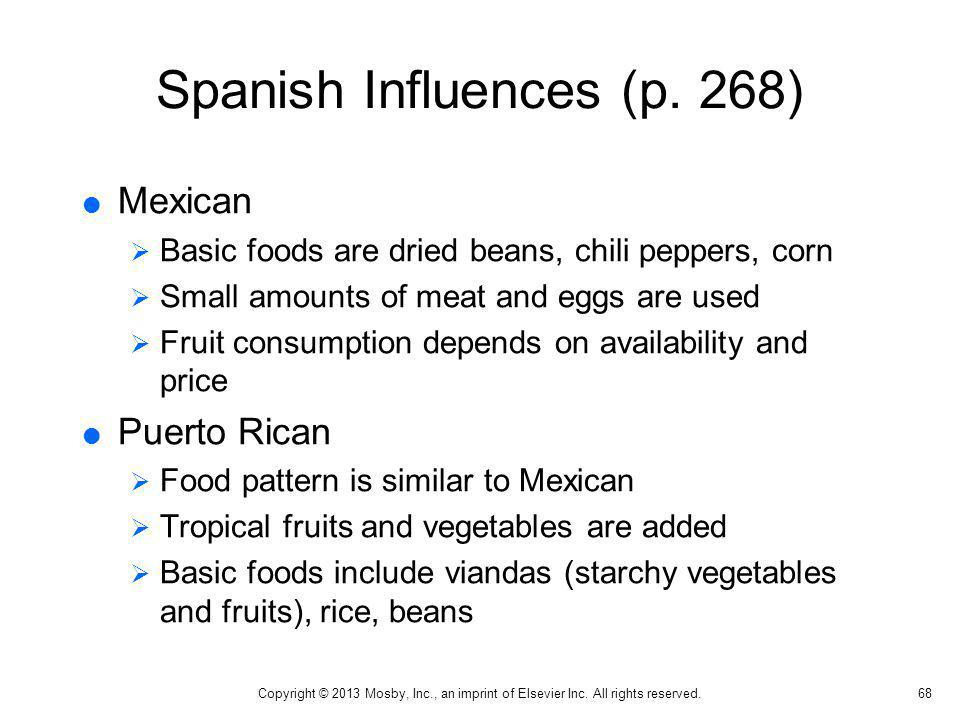 Spanish Influences (p. 268)