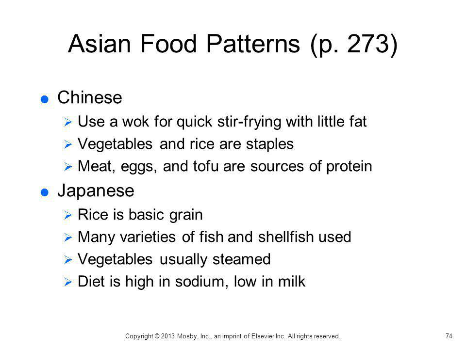 Asian Food Patterns (p. 273)