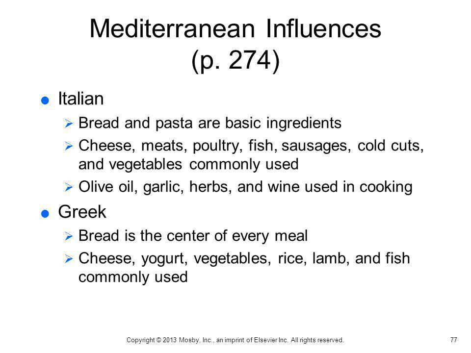 Mediterranean Influences (p. 274)