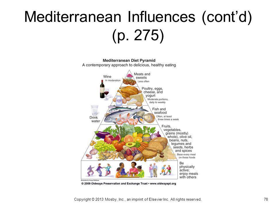 Mediterranean Influences (cont'd) (p. 275)
