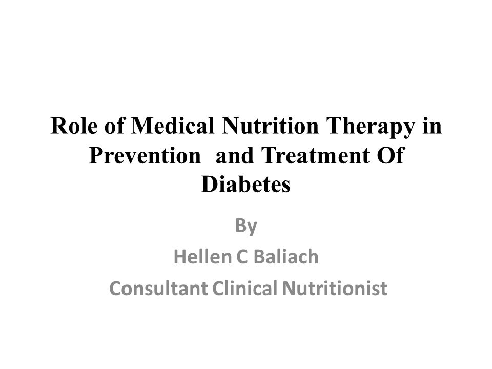 By Hellen C Baliach Consultant Clinical Nutritionist