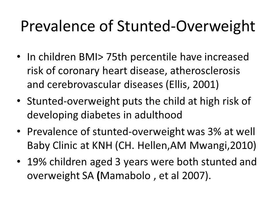 Prevalence of Stunted-Overweight