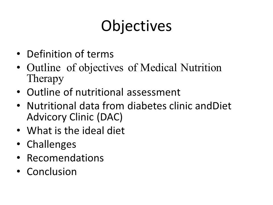Objectives Definition of terms