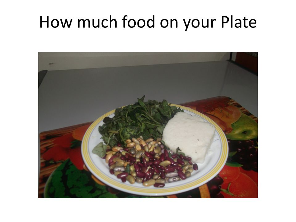 How much food on your Plate