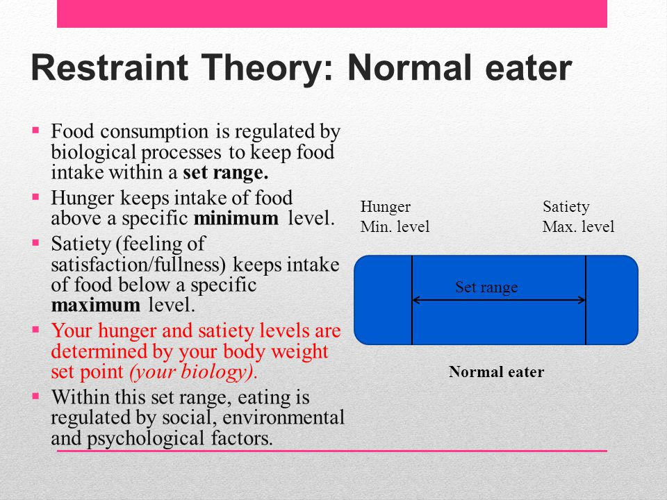 Restraint Theory: Normal eater