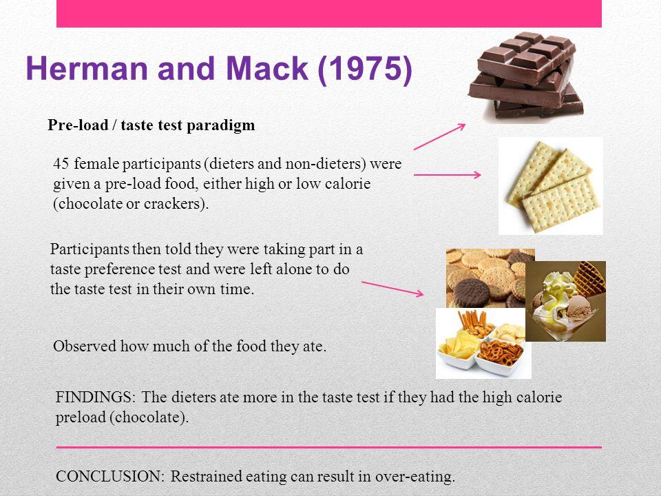 Herman and Mack (1975) Pre-load / taste test paradigm