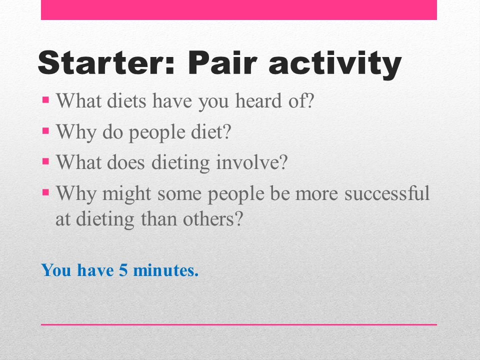 Starter: Pair activity