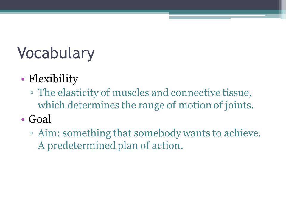 Vocabulary Flexibility Goal