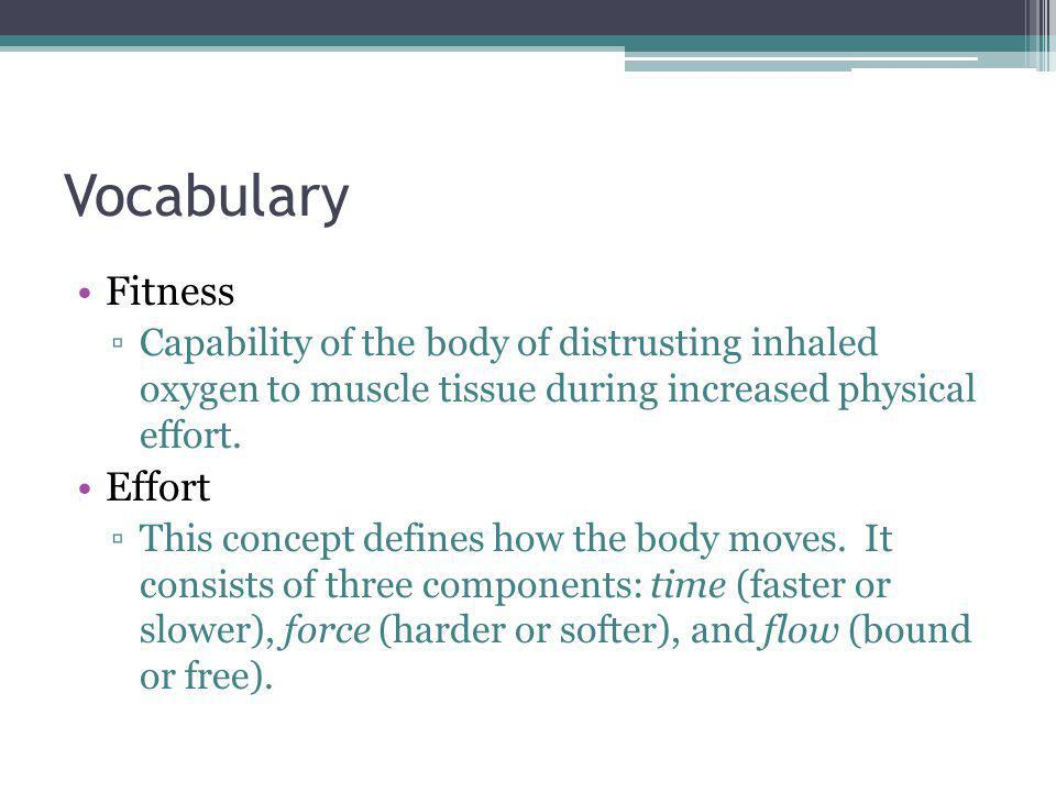 Vocabulary Fitness Effort