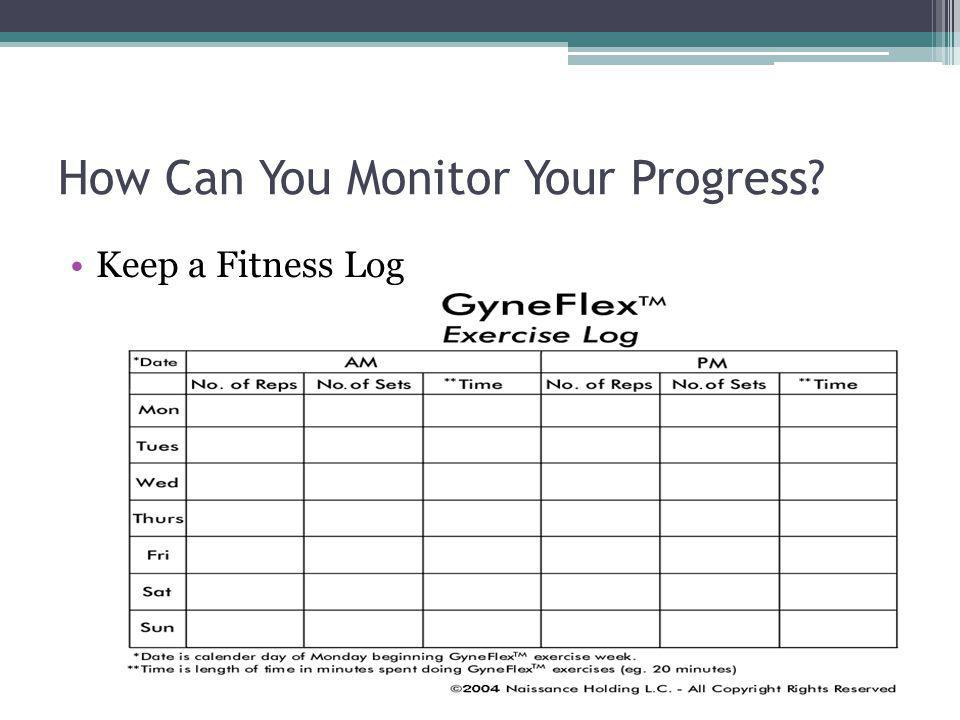 How Can You Monitor Your Progress
