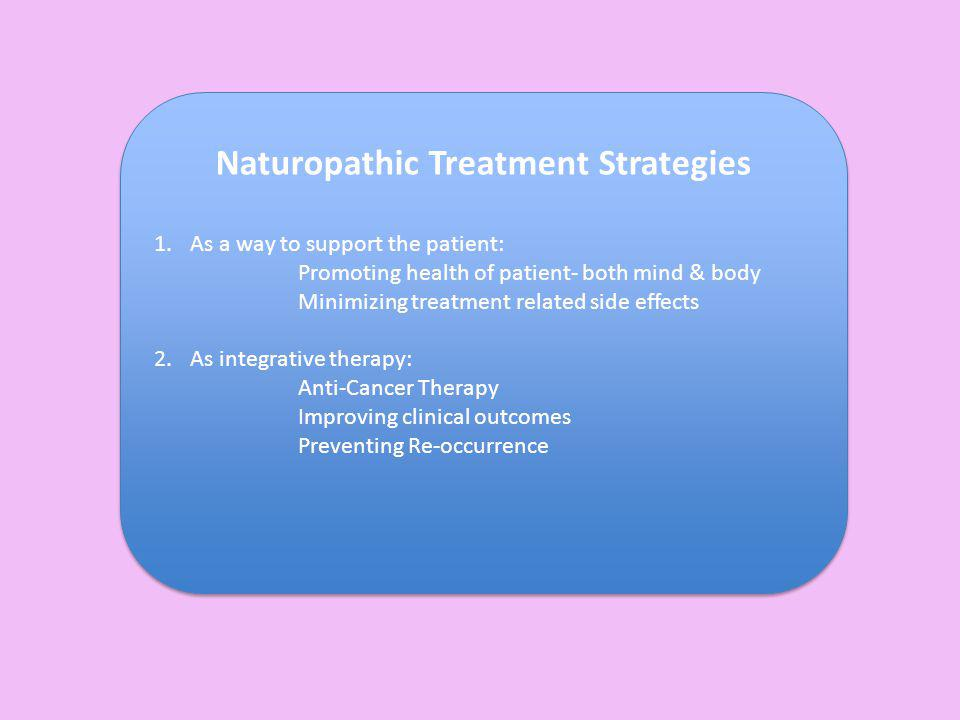 Naturopathic Treatment Strategies