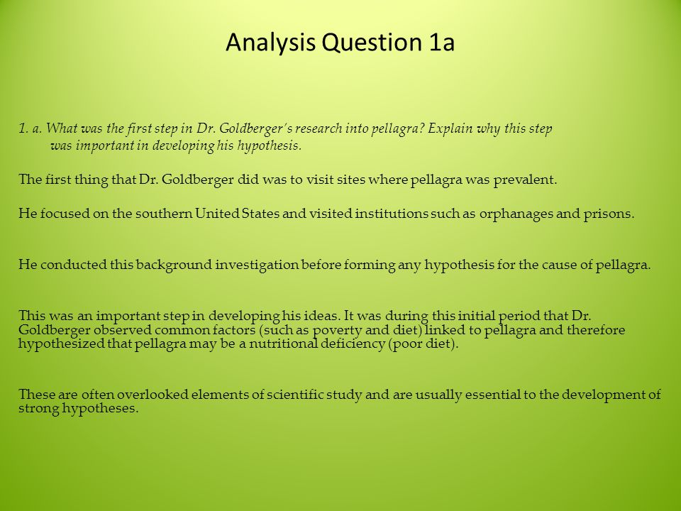 Analysis Question 1a