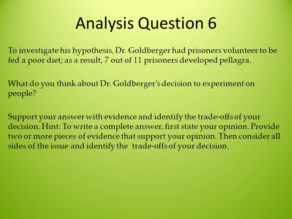 Analysis Question 6