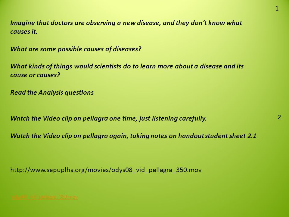 What are some possible causes of diseases
