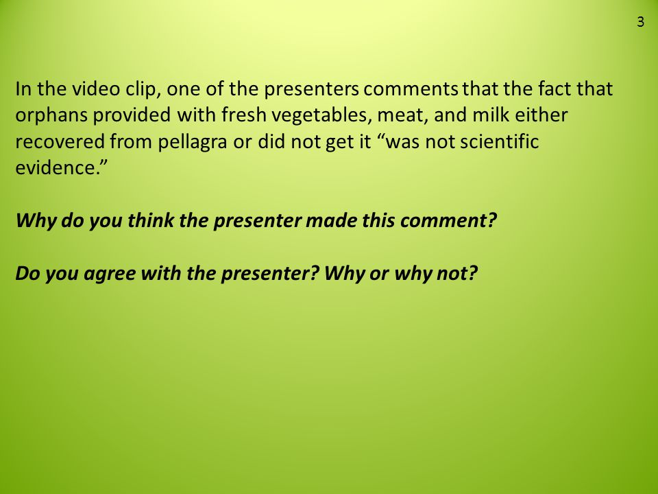 Why do you think the presenter made this comment