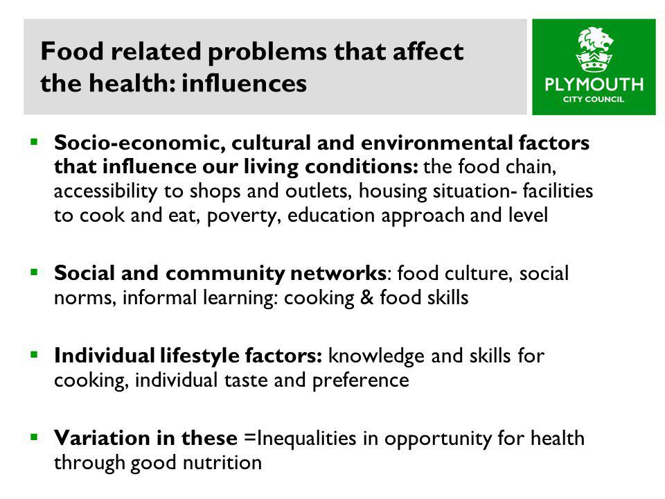 Food related problems that affect the health: influences
