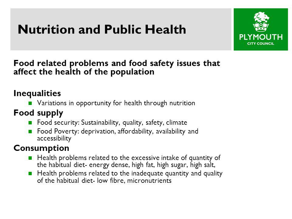 Nutrition and Public Health