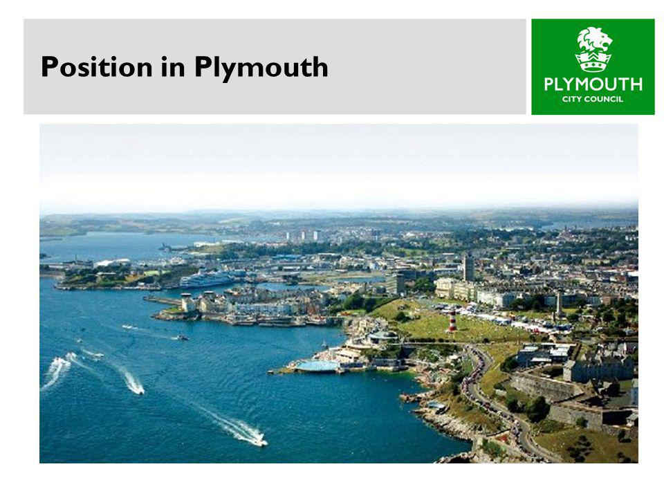 Position in Plymouth