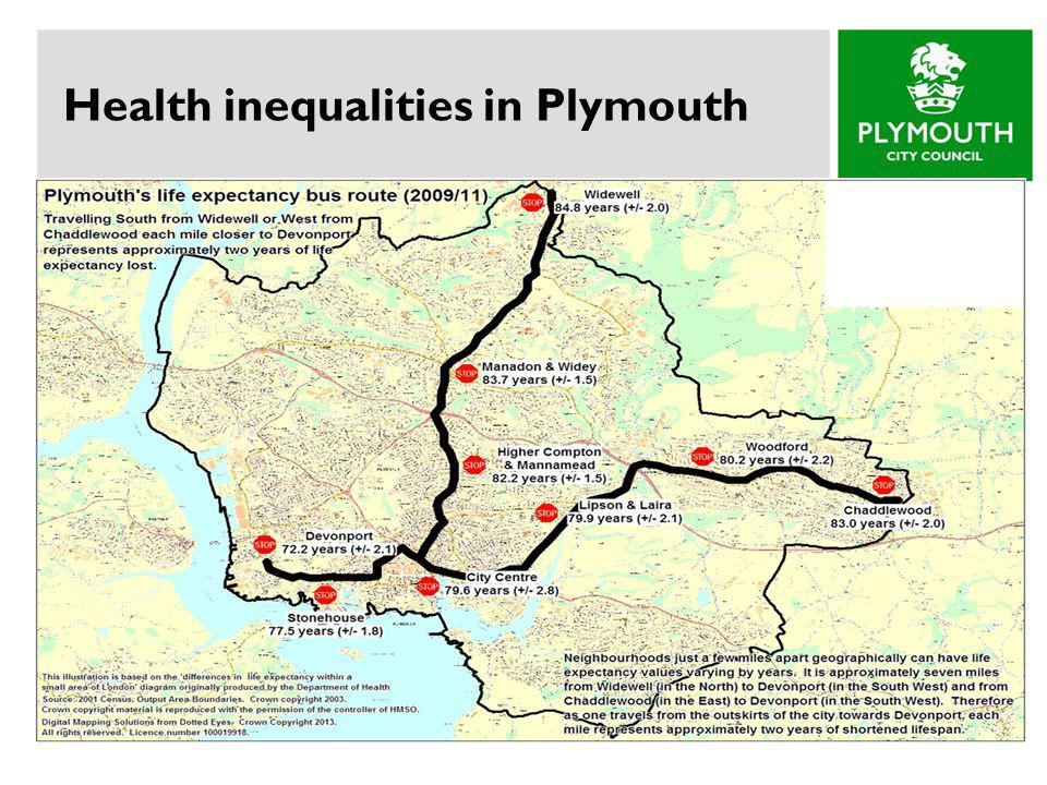 Health inequalities in Plymouth