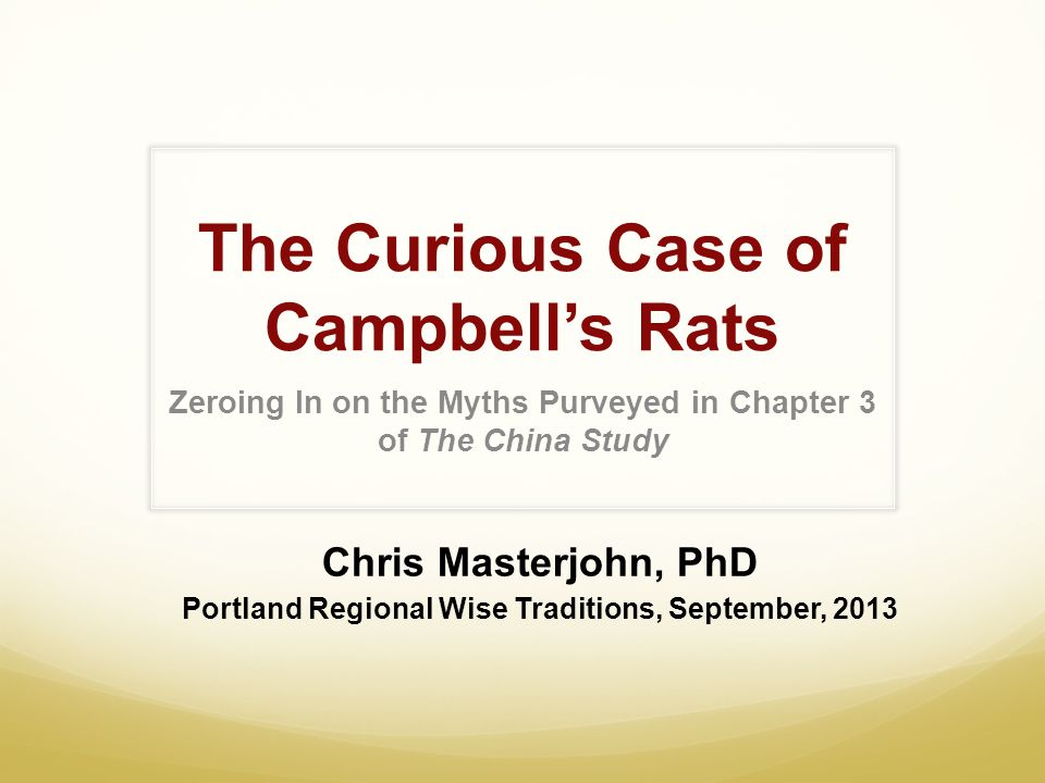 The Curious Case of Campbell's Rats