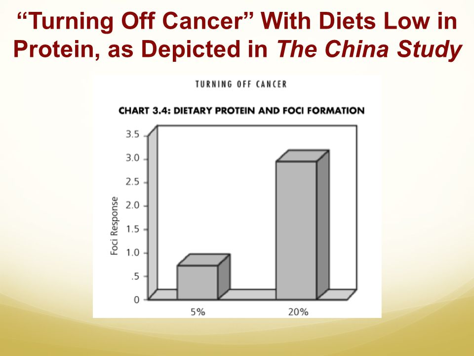 Turning Off Cancer With Diets Low in Protein, as Depicted in The China Study