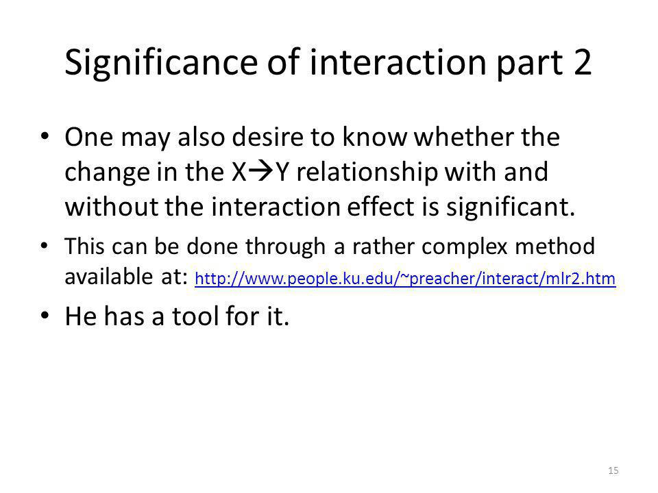 Significance of interaction part 2