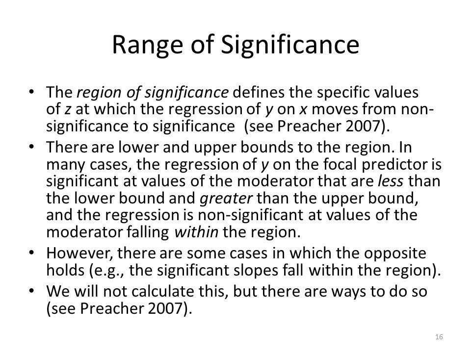 Range of Significance