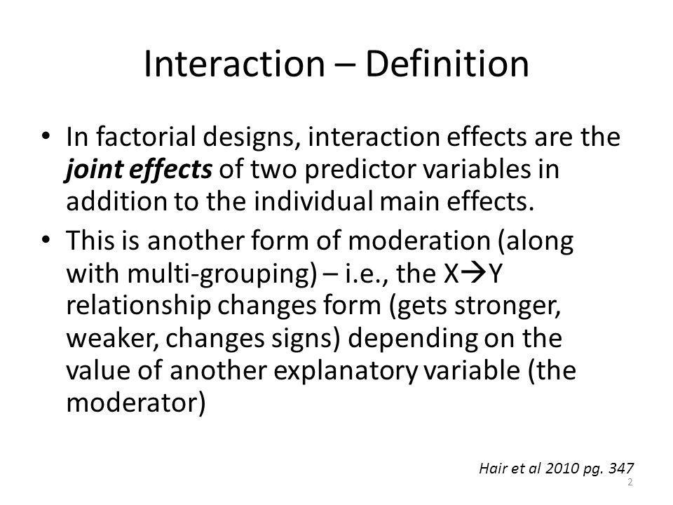 Interaction – Definition