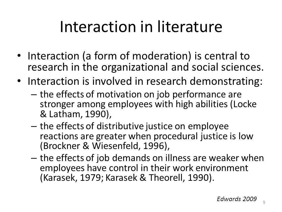 Interaction in literature