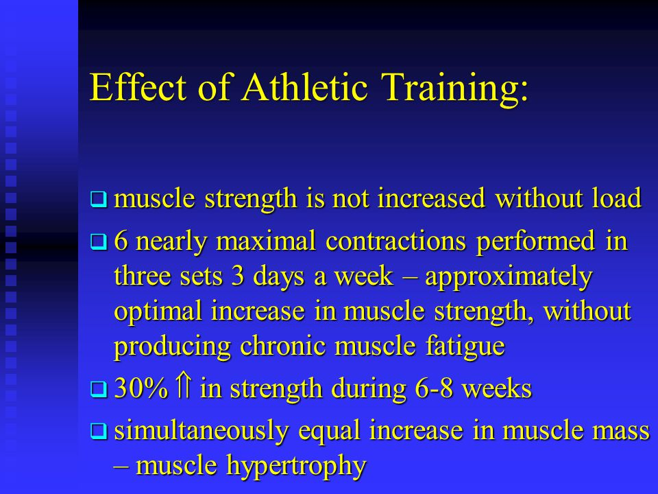 Effect of Athletic Training: