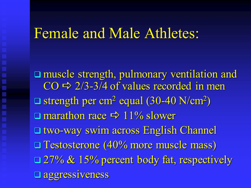 Female and Male Athletes: