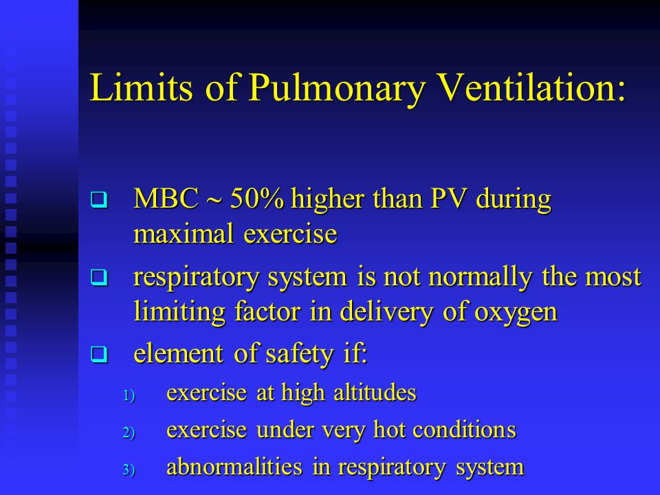 Limits of Pulmonary Ventilation: