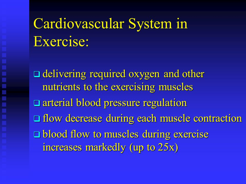 Cardiovascular System in Exercise: