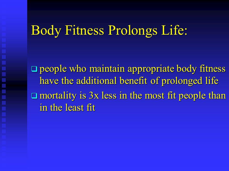 Body Fitness Prolongs Life: